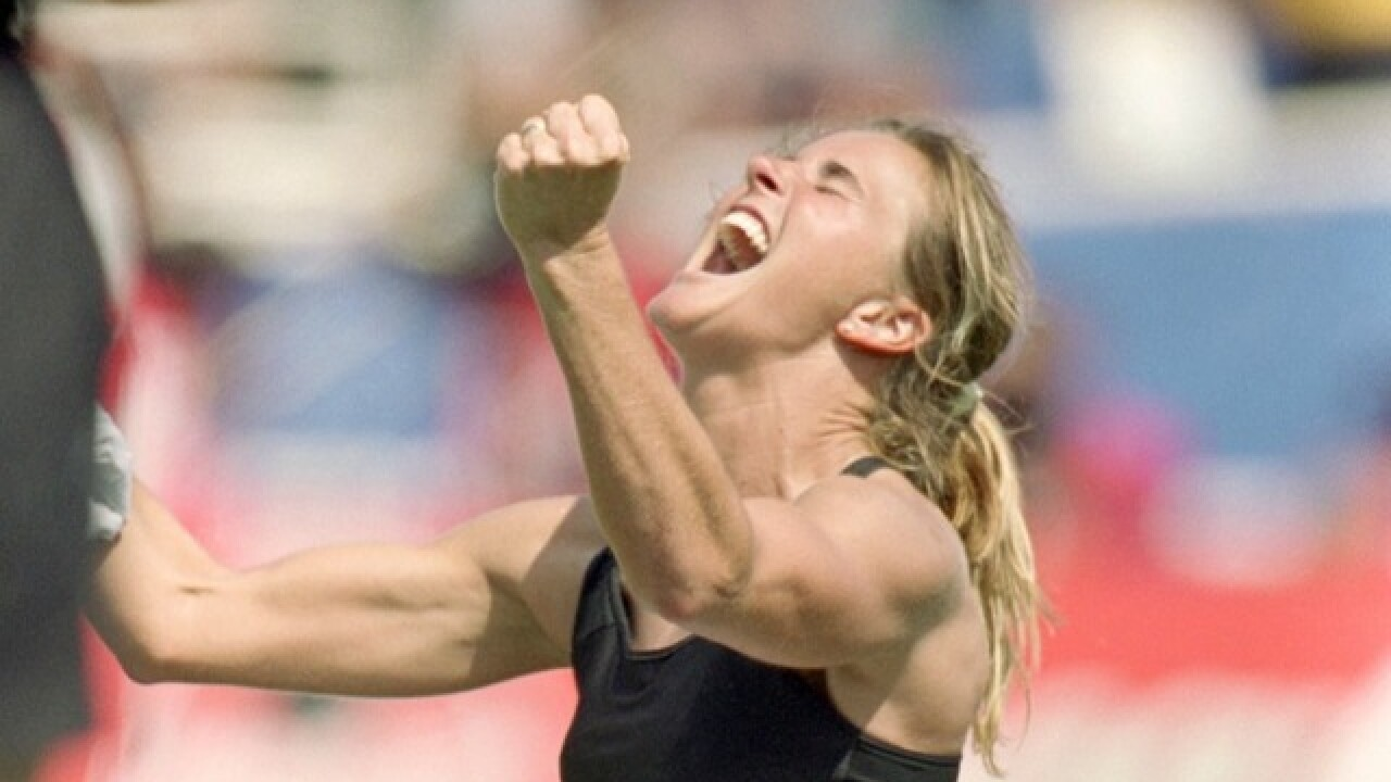 Fans: Plaque makes World Cup hero Brandi Chastain look like Gary Busey