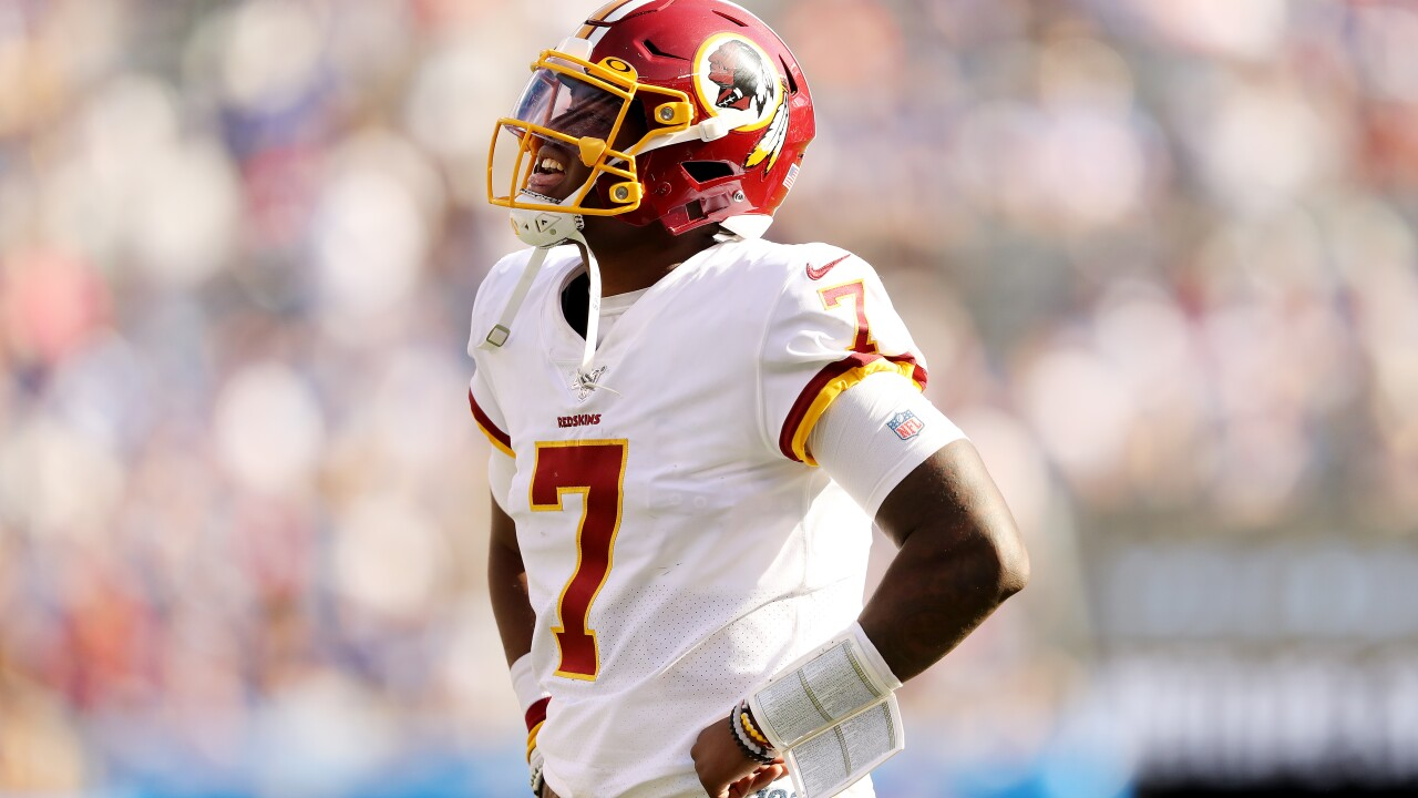 QB Dwayne Haskins seeks first career win as Redskins host Detroit Lions