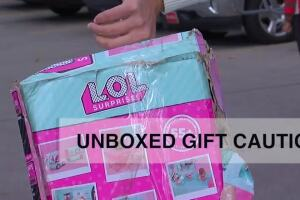 Unboxed Gift Caution