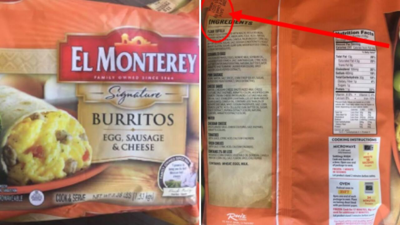 Company recalls frozen sausage breakfast burrito products due to possible foreign matter contamination