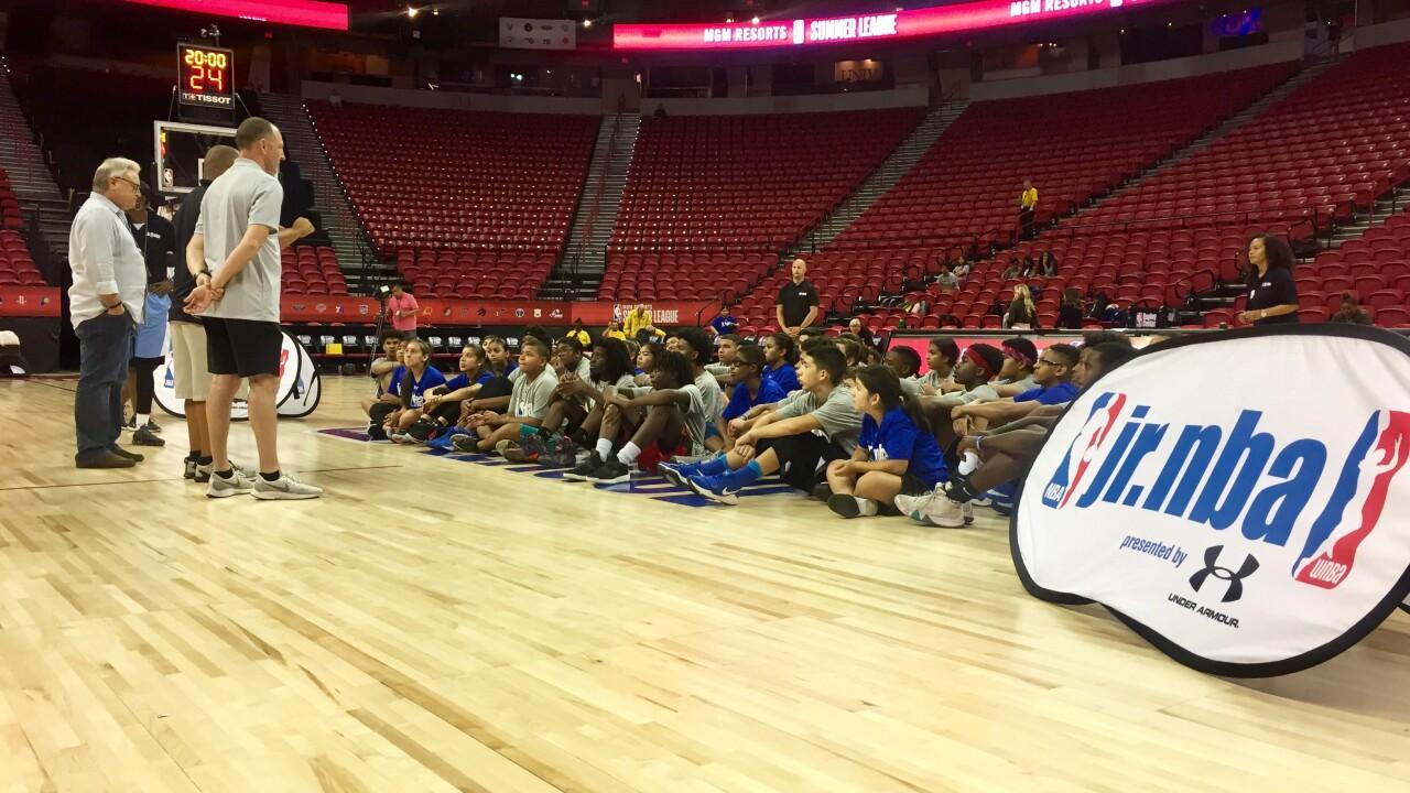 NBA Summer League serves more than 200 local kids as part of its jr. nba program.