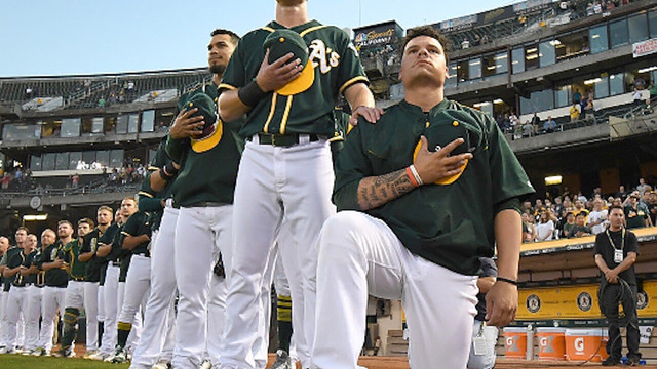 A's catcher, Scottsdale resident Bruce Maxwell will stand for national anthem this season