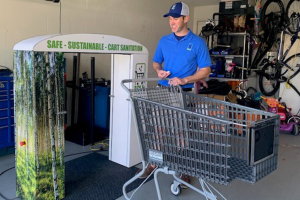 Florida man in talks with national grocery store chains after inventing cart sanitizer