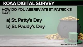 KOAA Survey: How do you abbreviate St. Patrick's Day?