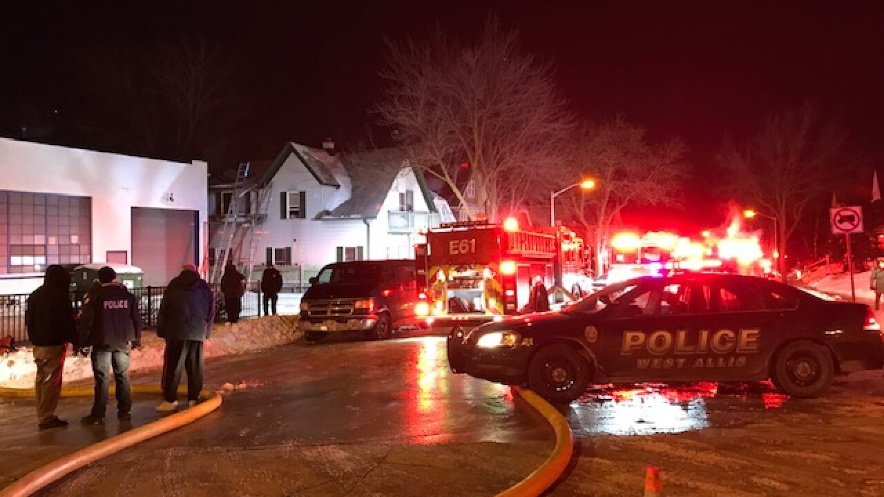 A West Allis family of eight escaped a duplex fire safely.