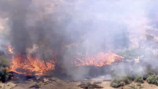 brush fire in Goodyear