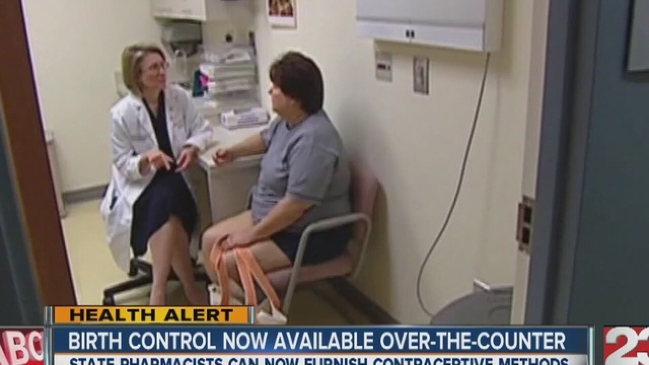 Birth control now over-the-counter in California