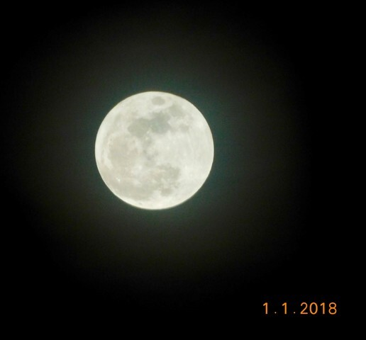 PHOTOS: Supermoon rises on first night of 2018