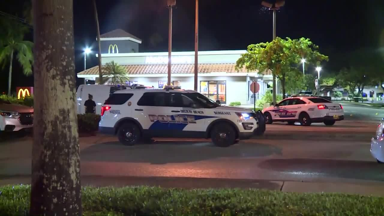 scene of shooting outside McDonald's in Delray Beach, June 17, 2021