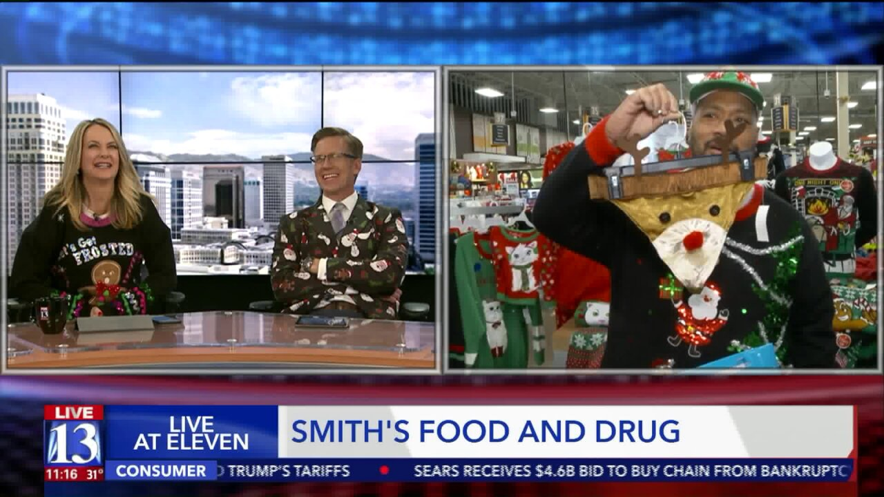 Celebrating the season in ugly sweaters fromSmith's