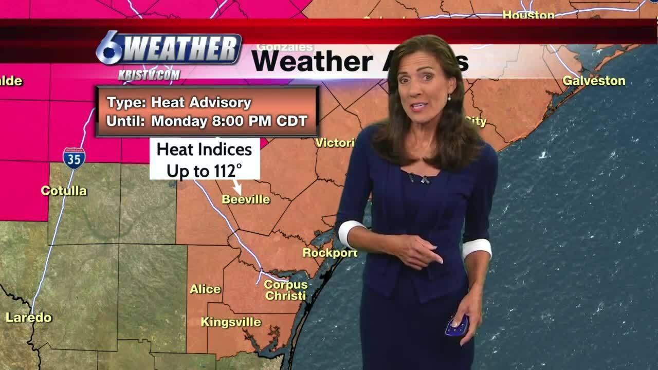 High pressure controls hot weather pattern