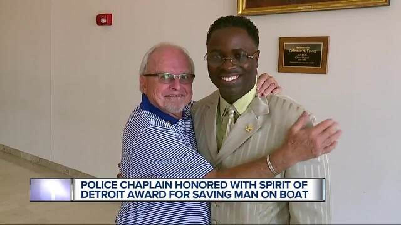 Chaplain saves man's life on Detroit Princess