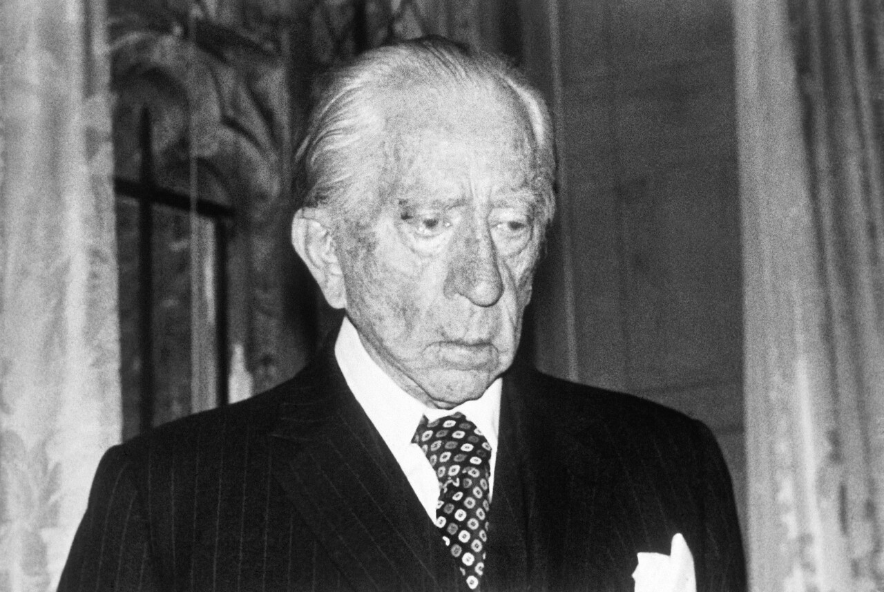 This 1975 file photo shows oil billionaire, Jean Paul Getty, America's richest expatriate, at his home at Guildford, Surrey, England.