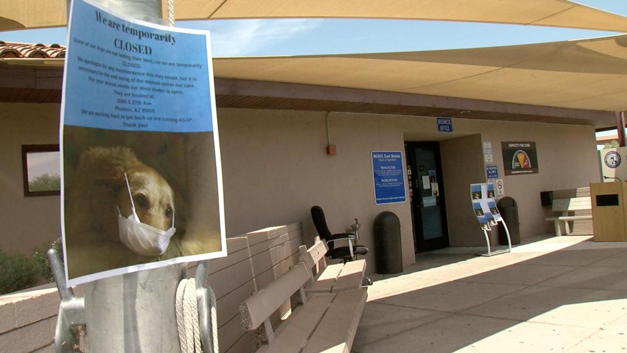 KNXV MCACC East Maricopa County Animal Care and Control Quarantine Closed