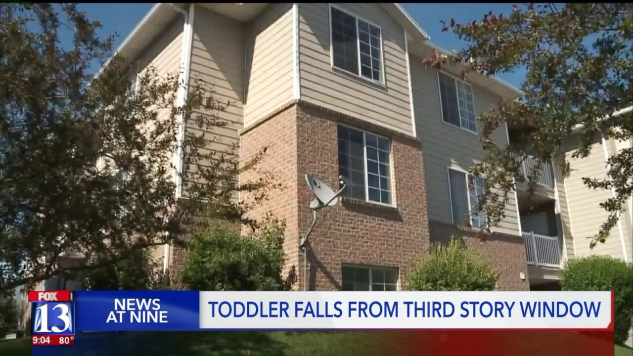 Toddler falls from 3rd-story window in West Haven