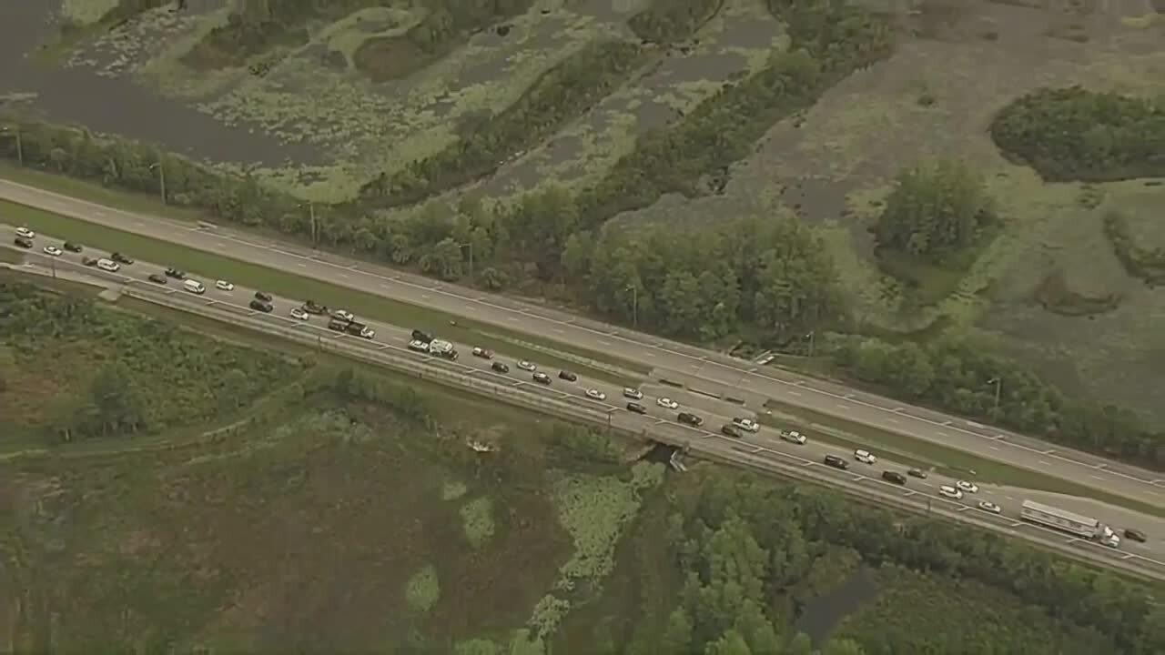 traffic backed up after crash on Northlake Boulevard