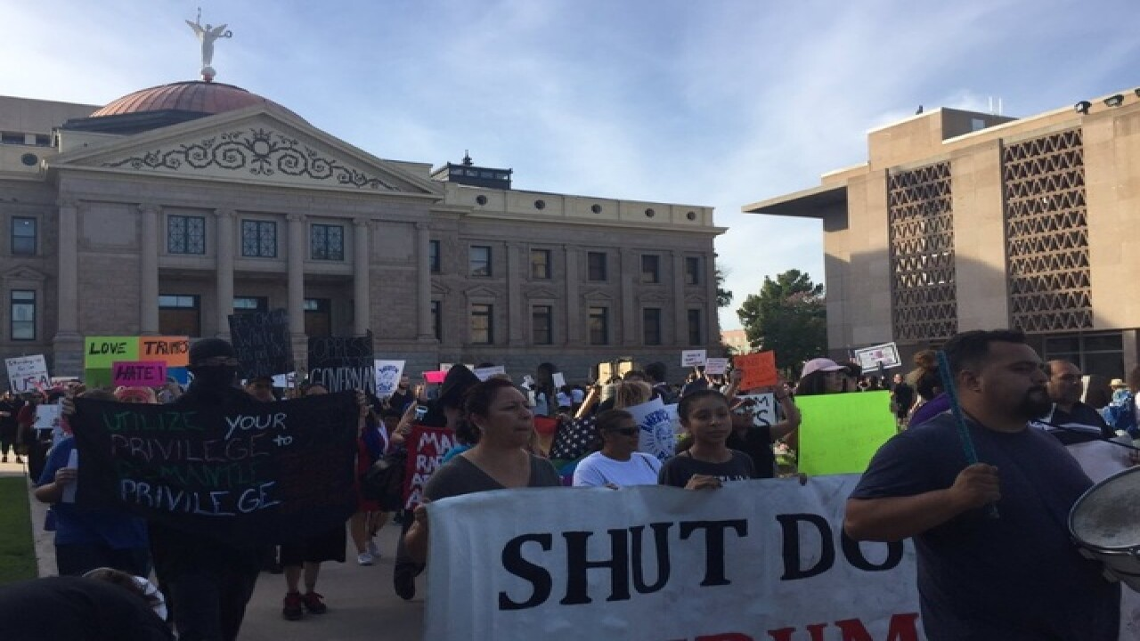 Anti-Trump protests continue in PHX, Tempe