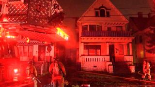 Two-alarm fire rips through garage on Riley Street in Buffalo