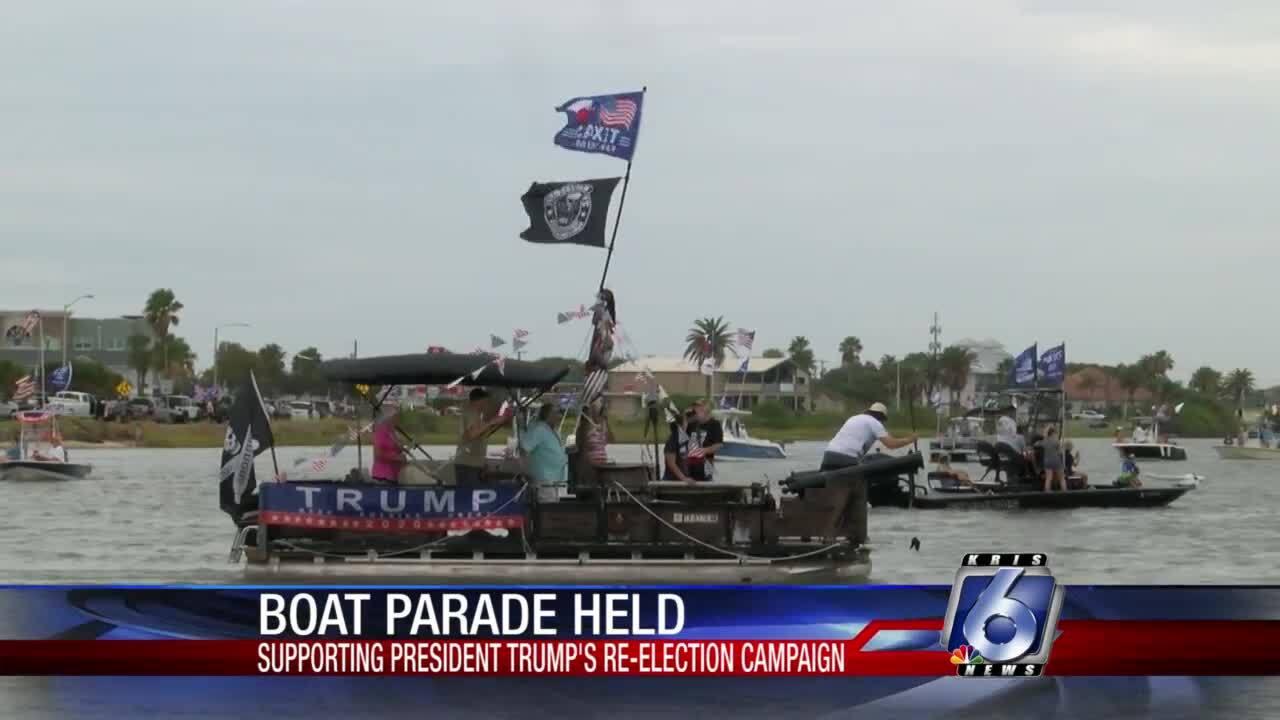 Trump boat parade in Rockport