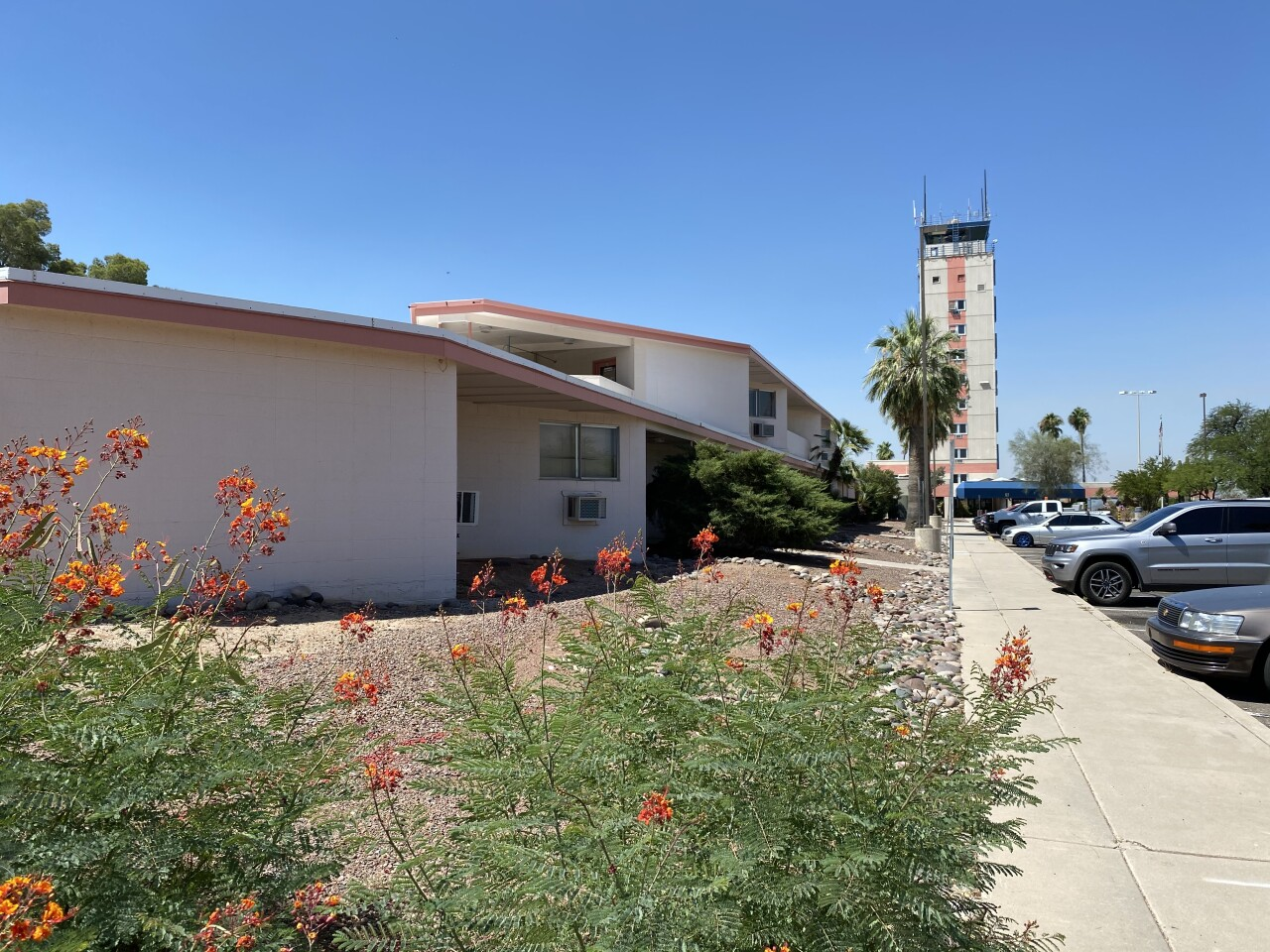 The RONtel is now office space next to the Tucson control tower