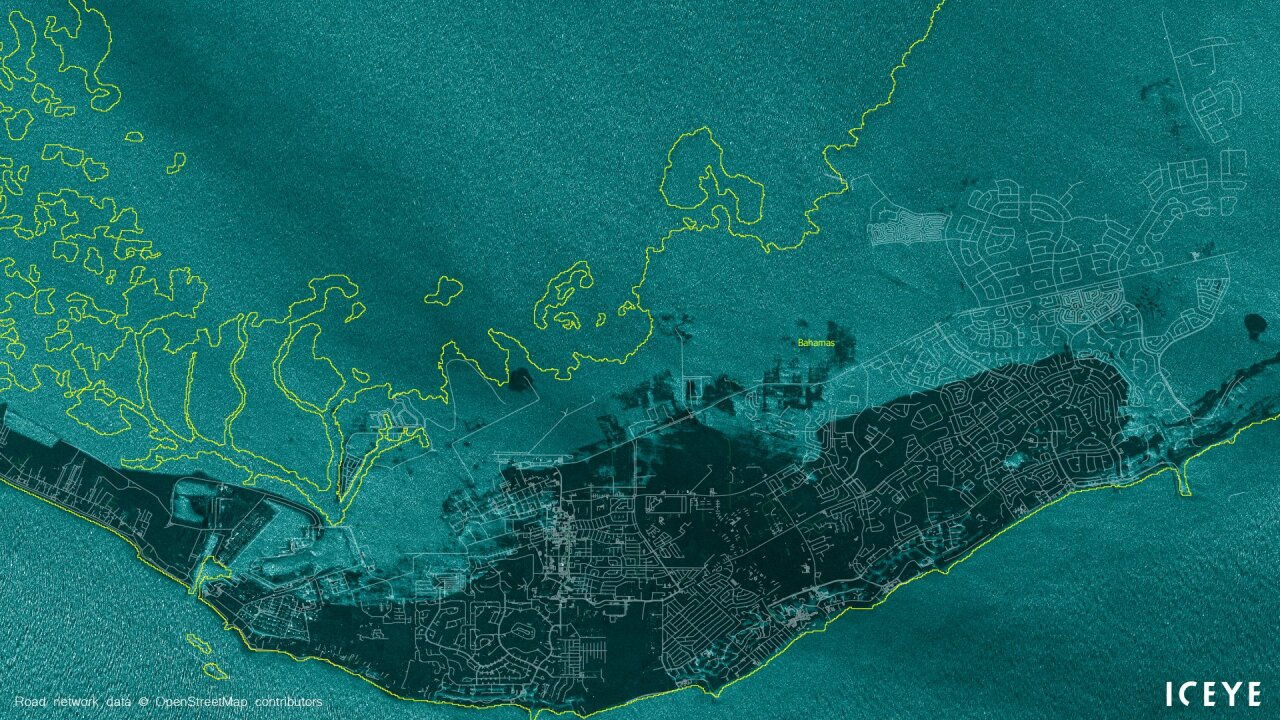 These satellite images show Grand Bahama before and after ... on map of barefoot bay, map of pink shell resort, map of bradenton, map of greenwood, map of bonita springs communities, map of havana, map of lee county, map of cocoa beach area, map of live oak, map of everglades national park, map of anna maria island, map of palm beach shores, map of north ft myers, map of monroe county, map of panama city, map of suncoast estates, map of biscayne park, map of coco river, map of florida, map of palm beach gardens,