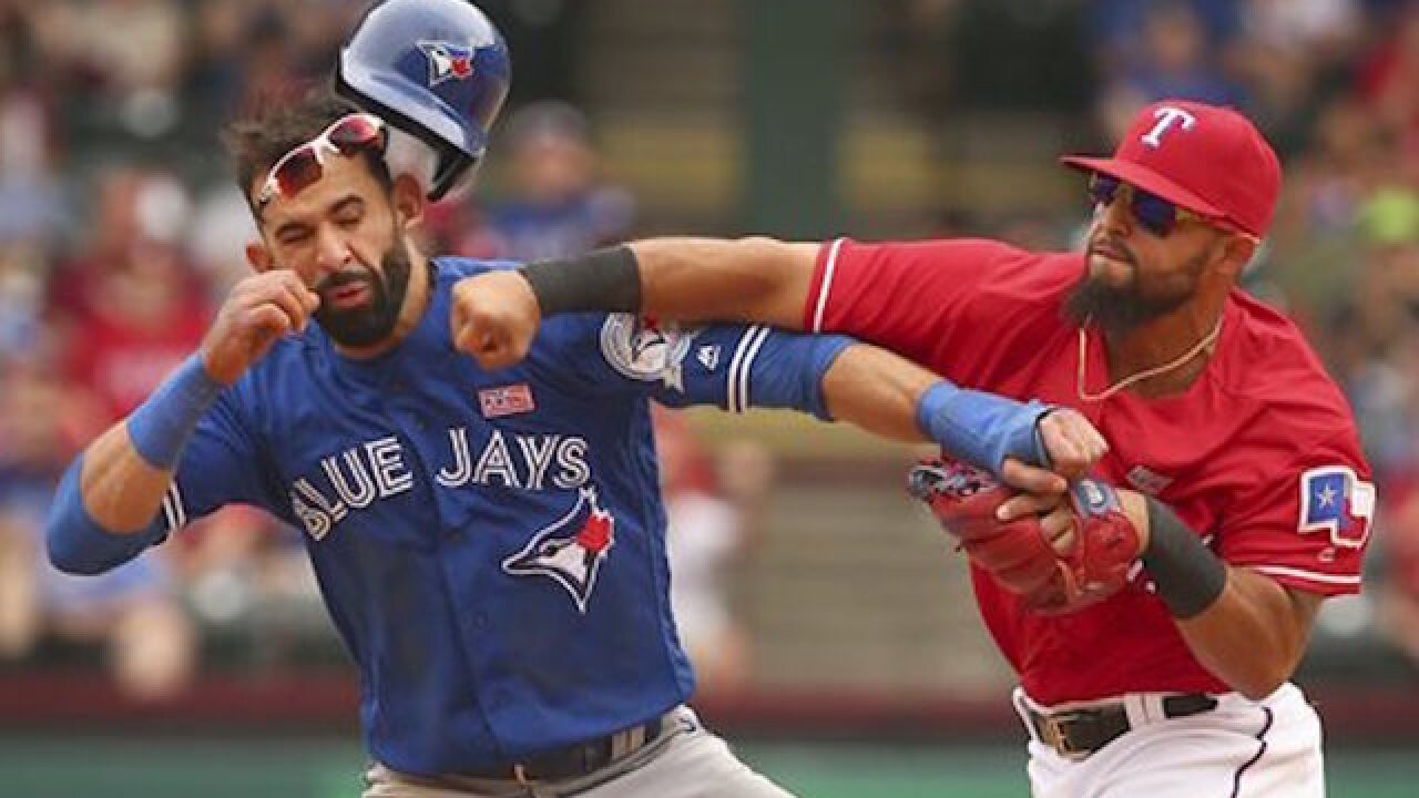 14 disciplined following Rangers/Jays brawl