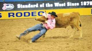 Erickson pads steer wrestling lead, Breding No. 3 bull rider as Cowboy Christmas settles