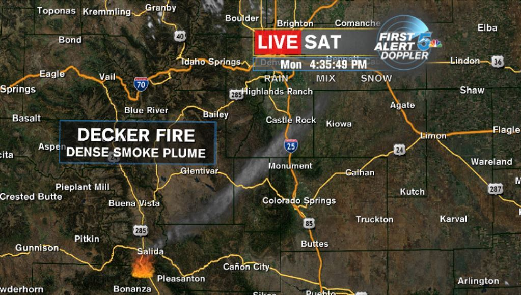 Decker Fire plume