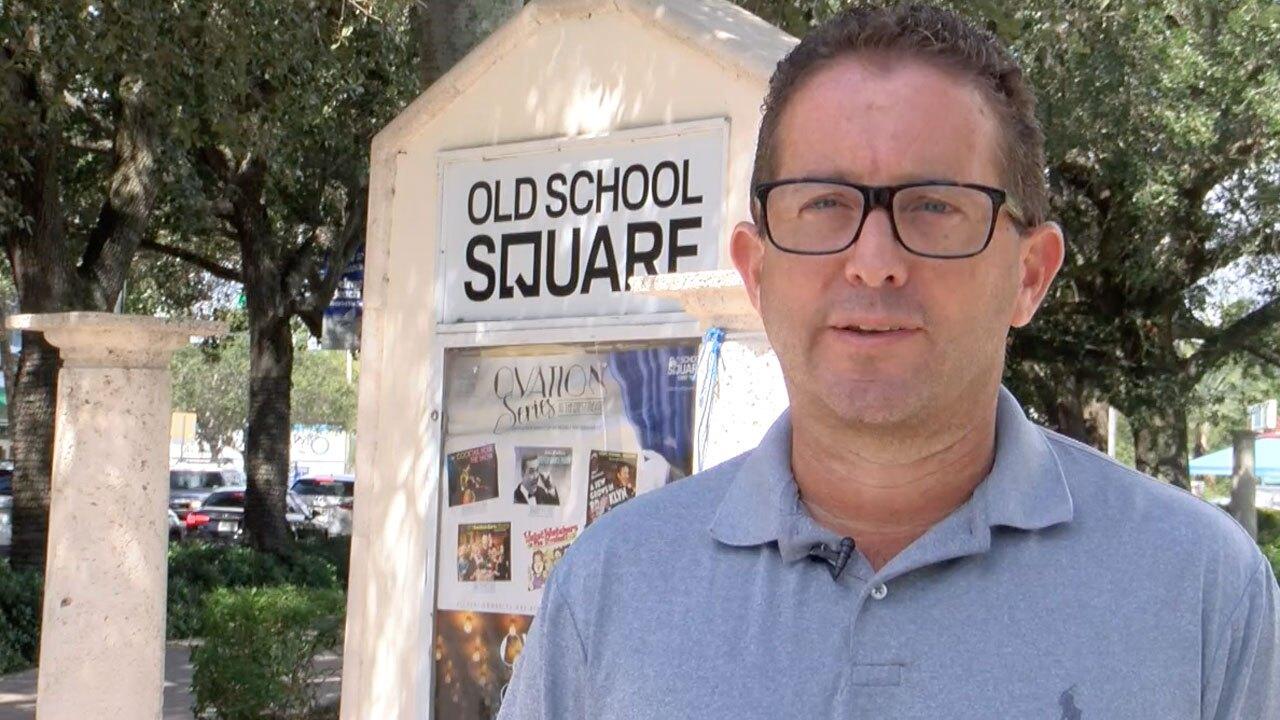 Delray Beach Commissioner Adam Frankel speaks about Old School Square