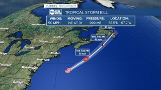 tropical storm bill tues am