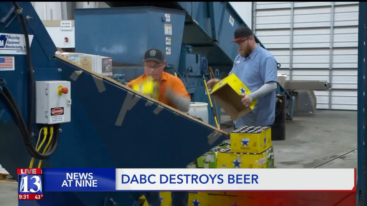 Unsold beer from state liquor stores gets turned into natural gas