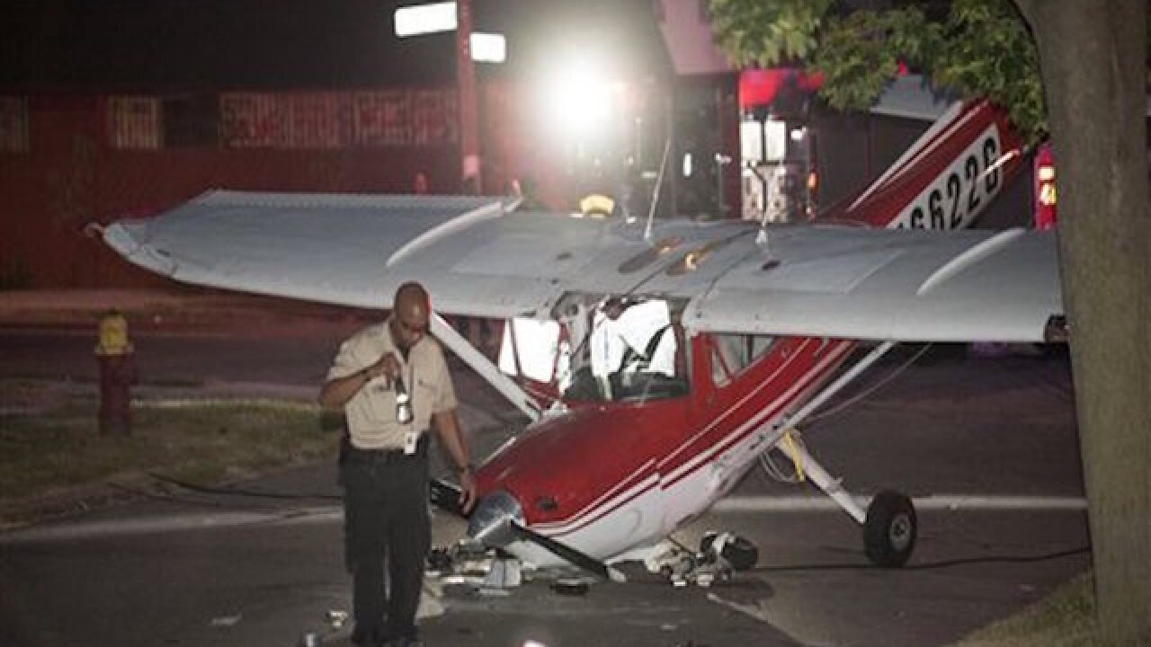 Pilot, bystander hurt after plane crashes in Detroit street