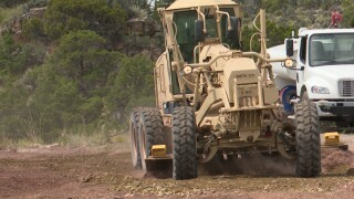Montana National Guard engineers practice their craft by improving Limestone Hills training area