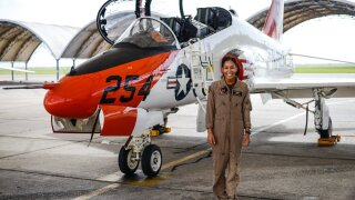First Black female U.S. Navy fighter pilot to complete training at NAS Kingsville