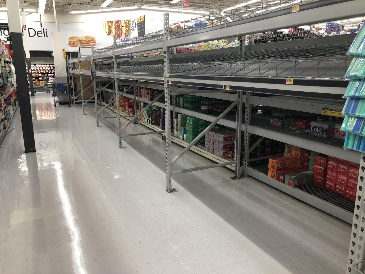 Walmart empty shelves