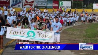 Lori's Voice Walk for the Challenged fundraiser