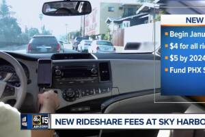Phoenix City Council OKs new fees for airport rideshares
