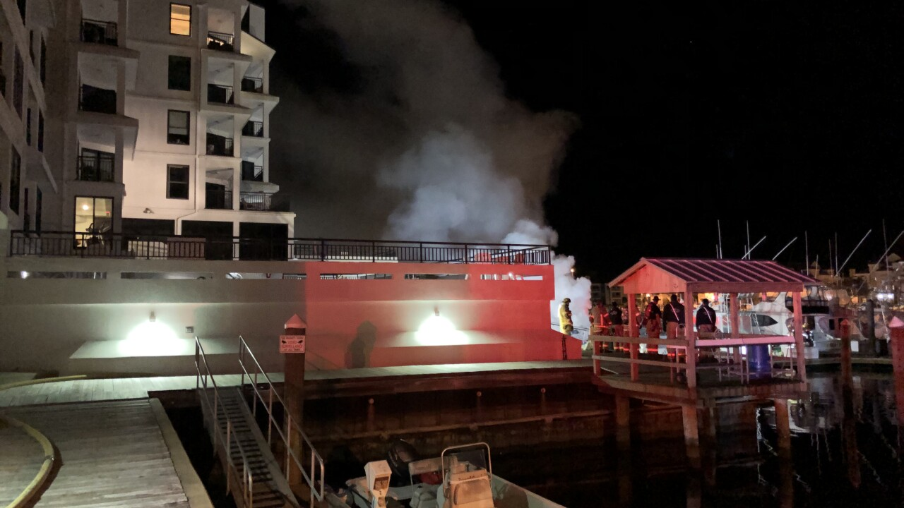Virginia Beach Fire responds to early morning boatfire