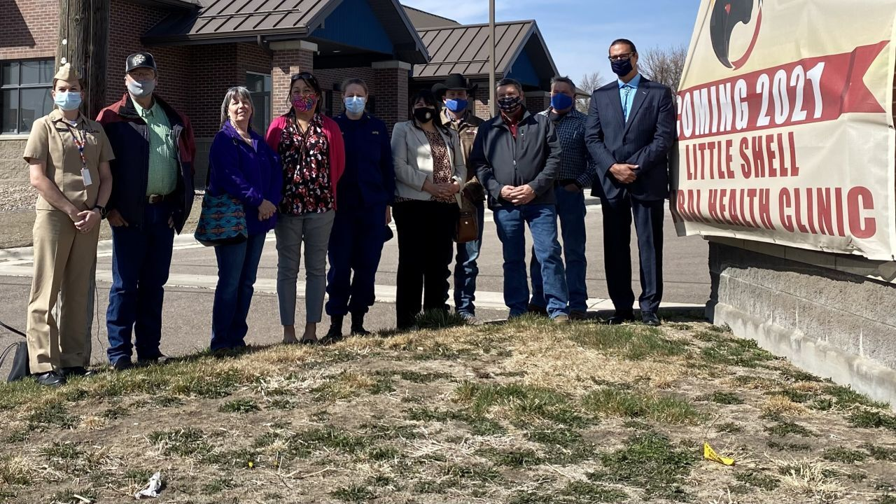 IHS acting director Elizabeth Fowler visited the Little Shell Tribal Health Clinic