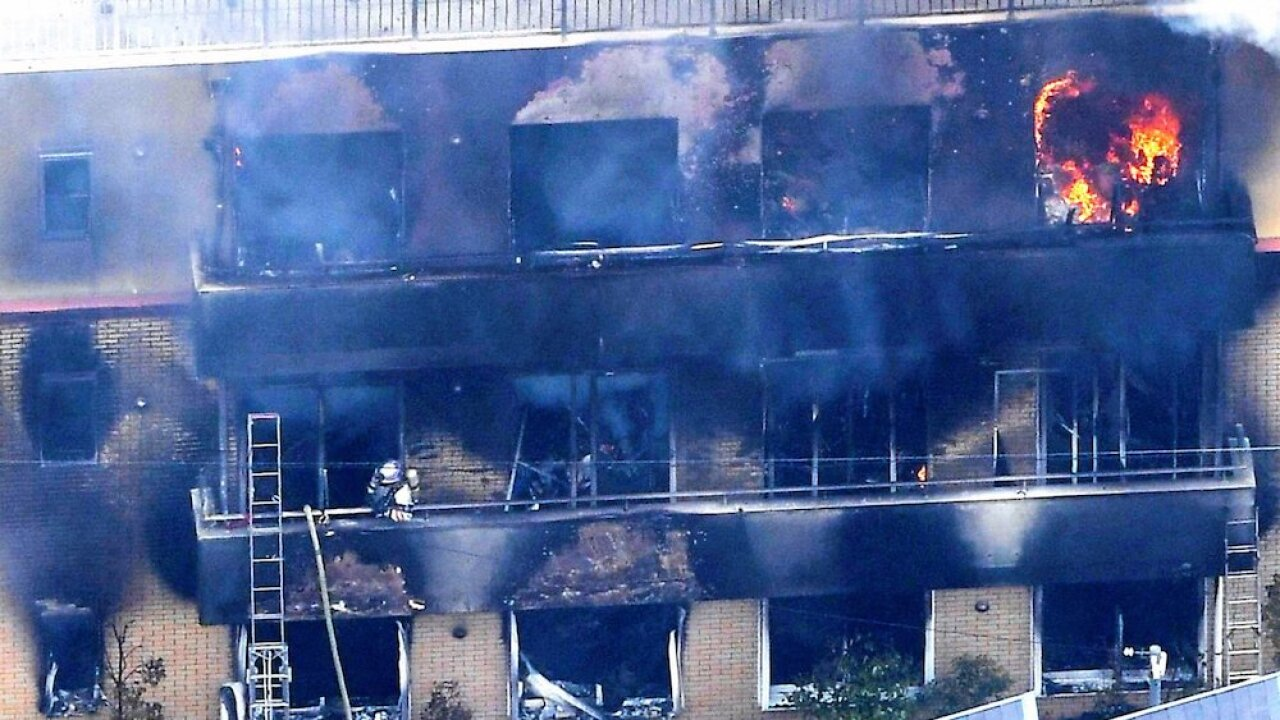 At least 25 killed in arson attack at Japanese animation studio