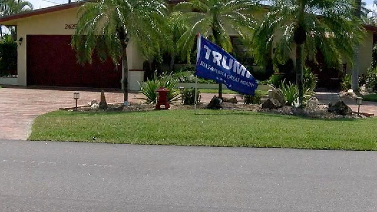 Man says he was attacked over Trump flag in yard