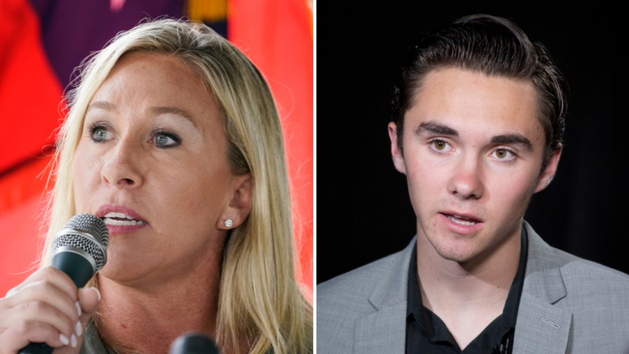 Marjorie Taylor Greene David Hogg