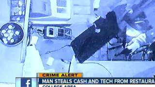 Man steals cash and tech from College area restaurant