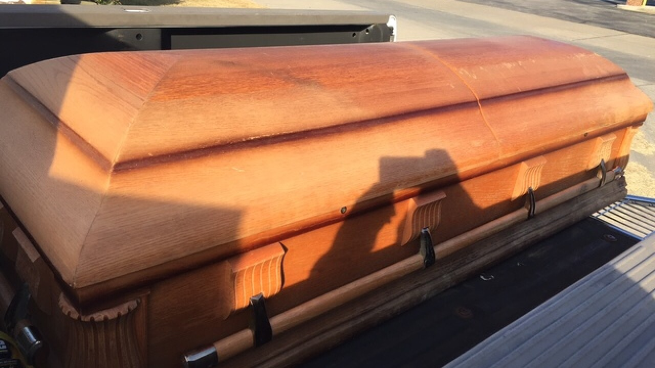 Resident finds empty casket in midtown parking lot