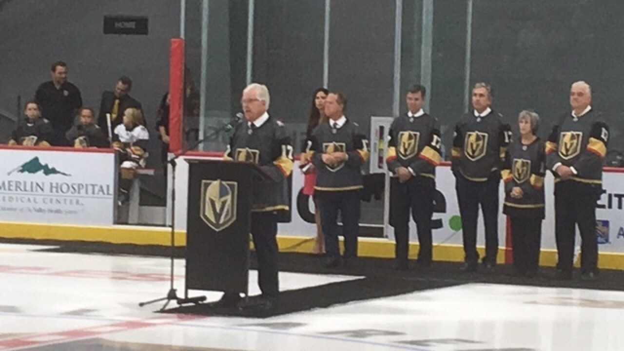 Golden Knights celebrate practice arena opening