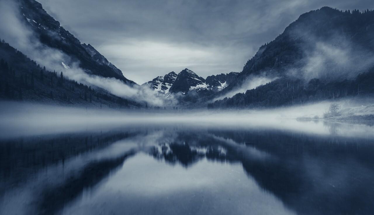 Scott Wilson_Maroon Bells dans la brume
