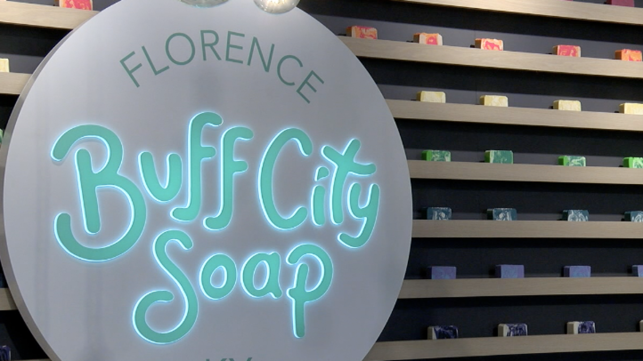 Buff City Soap in Florence promises a customizable soap experience with handmade laundry soap, body oils, bath bombs, bath truffles and more.