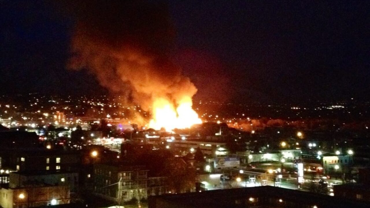 Videos show 4-alarm fire in downtown Salt Lake City