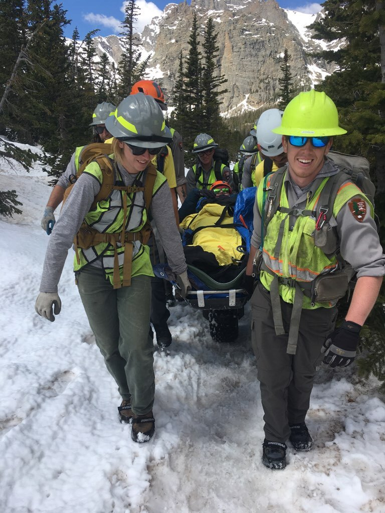Carry out at lower elevation from Loch Vale Incident June1 Courtesy Rocky Mountain National Park.jpg