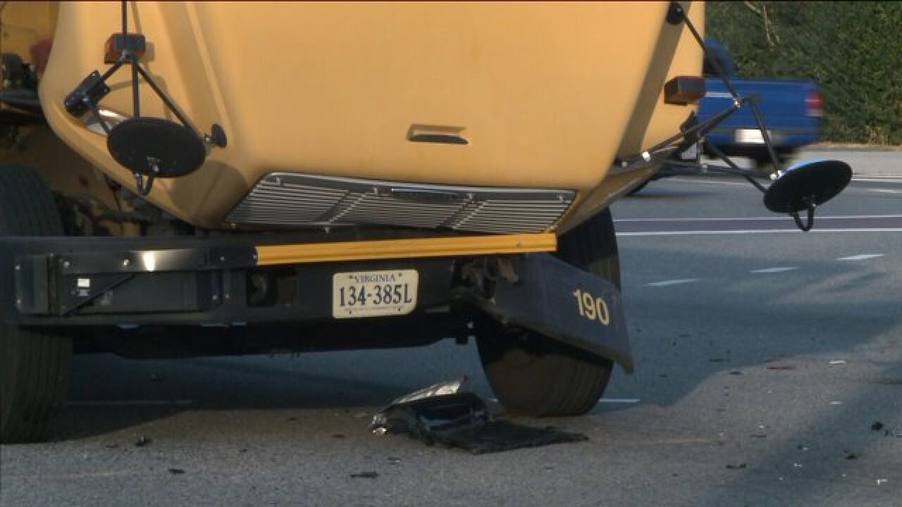 UPDATE: Virginia Beach school bus involved in accident withvehicle